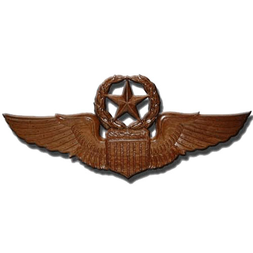 USAF Command Pilot Wings Insignia Plaque