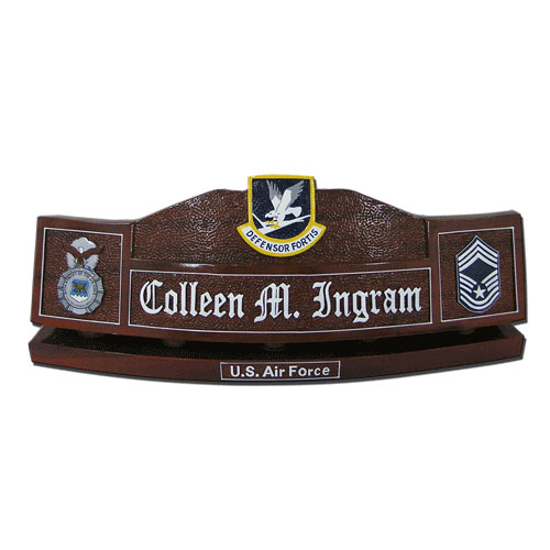 USAF Defensor Fortis  Desk Nameplate