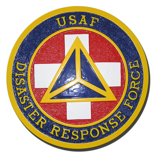 USAF Disaster Response Force DRF Seal - Podium Plaque