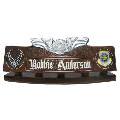 USAF Enlisted Aircrew Badge Desk Nameplate