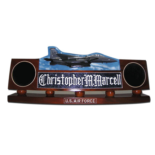 USAF F15 E Strike Eagle Desk Nameplate Model 1