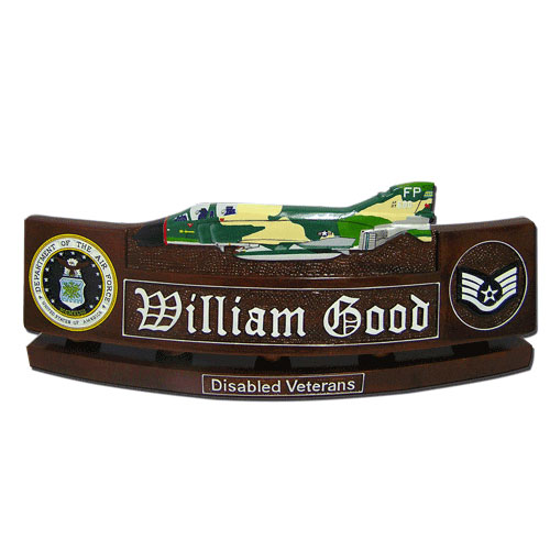 USAF F- 4D Phantom Desk Nameplate