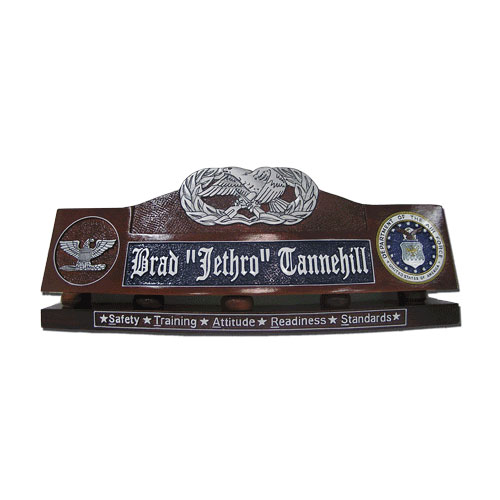 USAF Maintenance Badge Desk Nameplate