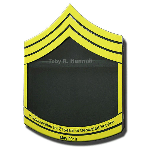US Army E7 Retirement/Shadow Box Colored