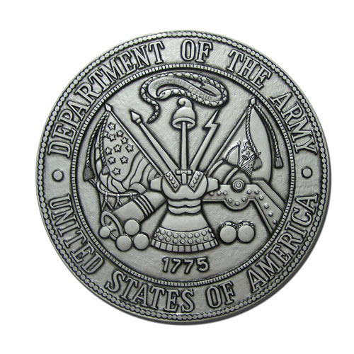 U.S. Army Seal Antique Silver
