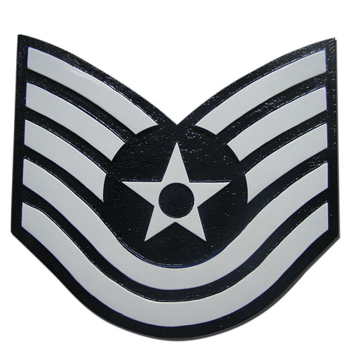 USAF E6 Rank Insignia Plaque