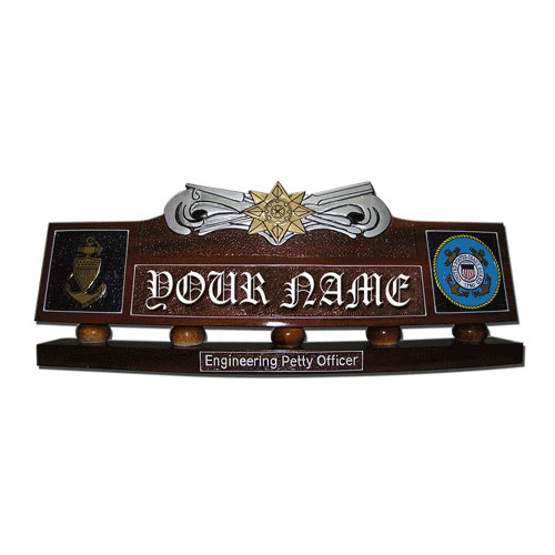 USCG Boat Force Operations Desk Nameplate