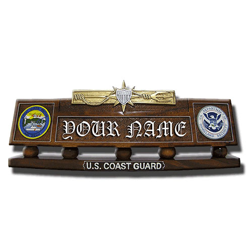 USCG Marine Safety Desk Nameplate
