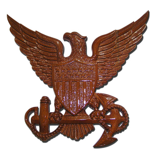 USCG Officer Insignia Plaque