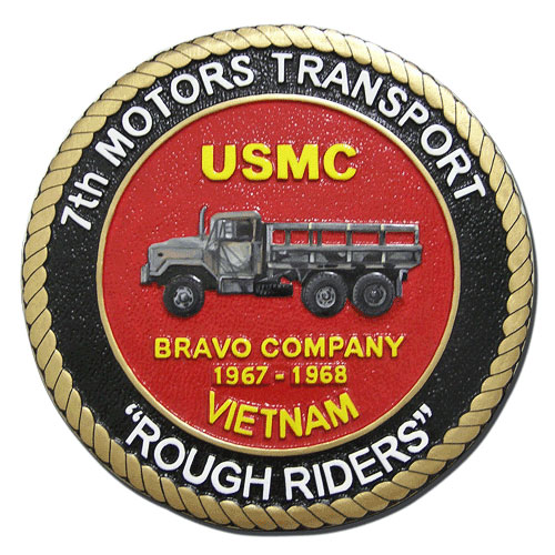 USMC 7th Motors Transport Rough Riders Seal
