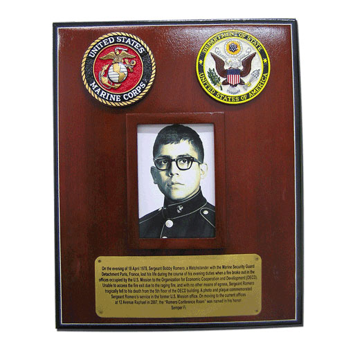 USMC Soldier Award Presentation Plaque