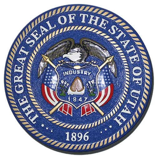 Utah State Seal Plaque