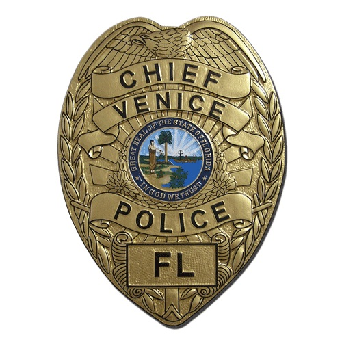 Venice Florida Police Chief Badge Plaque