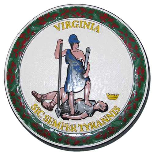 Virginia State Seal Plaque