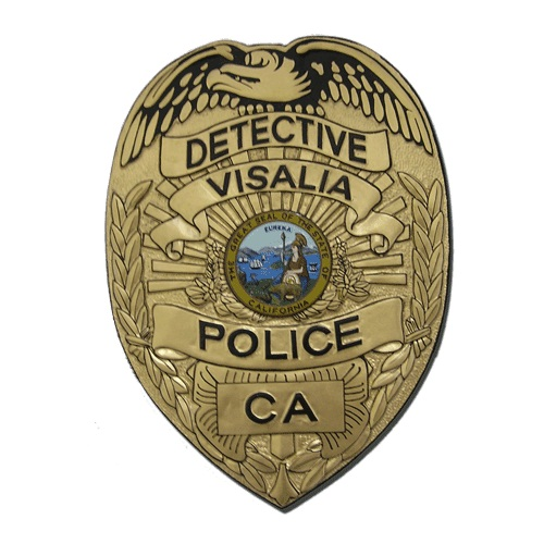 Detective Visalia Police CA Badge Plaque
