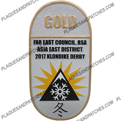 Asia East District Plaque (Gold)