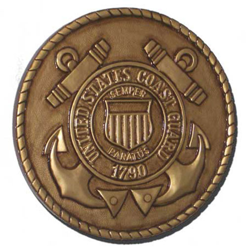 US Coast Guard USCG Seal Antique Gold