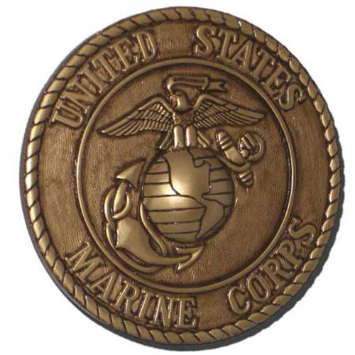 US Marines Corps USMC Seal Antique Gold