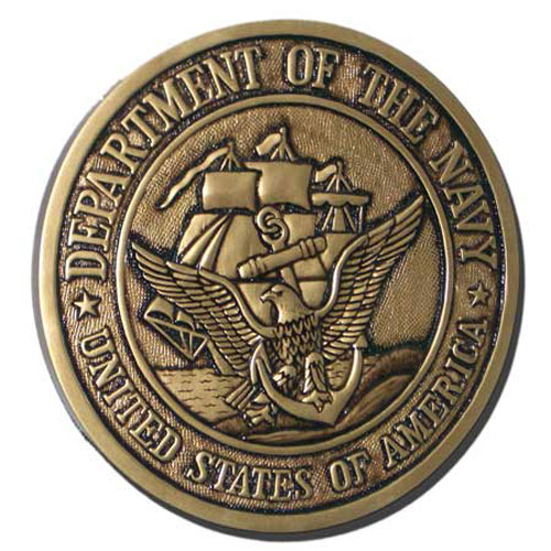 US Navy USN Seal Antique Gold