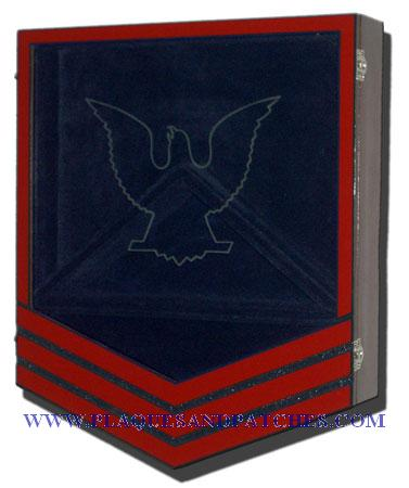 US Coast Guard E6 Retirement/Shadow Box Colored