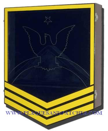 US Navy E8 Retirement/Shadow Box Colored
