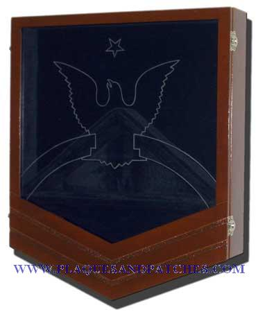 US Navy E8 Retirement/Shadow Box Natural Dark