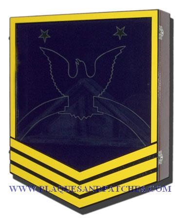 US Navy E9 Retirement/Shadow Box Colored